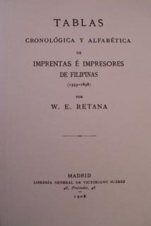 Tablas cronológica y alfabética de imprentas e impresores de Filipinas (1593-1898)